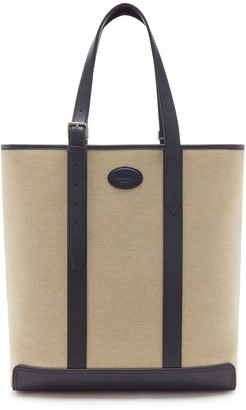 Mulberry Heritage Tote Midnight Canvas and Smooth Calf