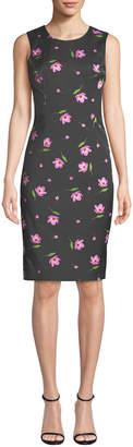 Milly Kendrea Sleeveless Floral-Print Sheath Dress