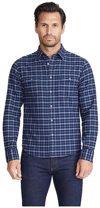 UNTUCKit Flannel Damali Shirt (Navy) Men's Clothing