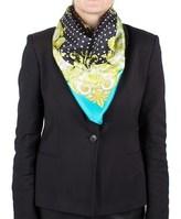 Versace Women's Baroque Spotted Pattern Silk Scarf.