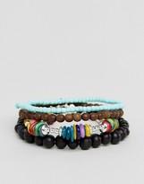 Asos Multi Coloured Beaded Bracelet Pack