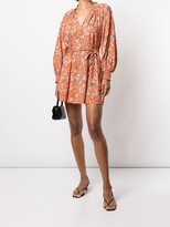 Thumbnail for your product : Alice + Olivia Lilian floral-print wrap dress