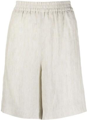 Fabiana Filippi High-Waisted Linen Shorts