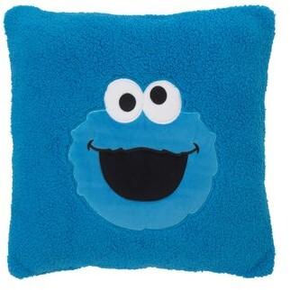 Sesame Street Cookie Monster Super-Soft Sherpa Toddler Throw Pillow
