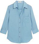 L'Agence Ryan Washed-silk Shirt