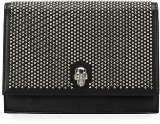 Alexander McQueen Mini Skull Studded Clutch Bag
