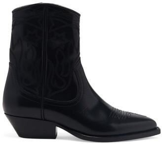 Sandro Paris Leather Cowboy Boots