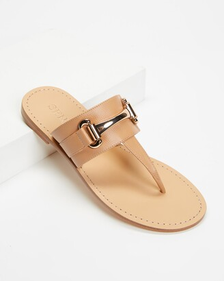 Senso Women's Brown Flat Sandals - Farley II - Size One Size, 38 at The Iconic