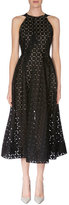 Roland Mouret Diamond-Cut Fit-&-Flare Dress, Black