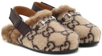 Gucci Kids GG wool-blend slippers