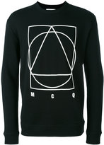 McQ by Alexander McQueen glyph icon print sweatshirt - men - Cotton - S