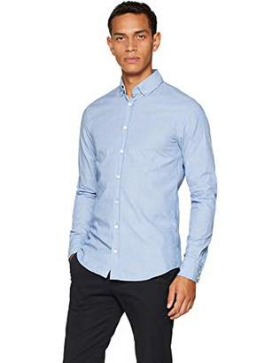 BOSS Men's Mabsoot Casual Shirt, (Bright Blue 431), Small