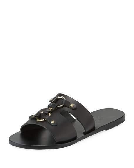 Ancient Greek Sandals Attiki Flat Leather Slide Sandal