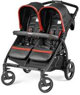 Peg Perego Book for Two Double Stroller in Synergy Black/Red
