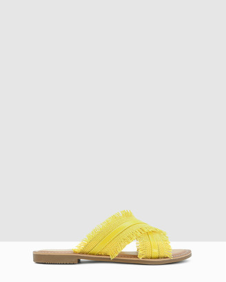 Los Cabos - Women's Yellow Flat Sandals - Marie - Size One Size, 36 at The Iconic