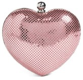 Whiting & Davis 'Charity Heart' Minaudiere - Pink