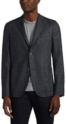 """Boglioli Men's """"K Jacket"""" Plaid Wool Flannel Two-Button Sportcoat - Charcoal"""