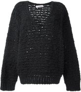 A.F.Vandevorst oversized jumper - women - Polyamide/Virgin Wool - 36