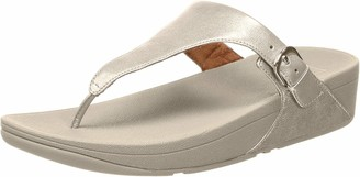 FitFlop Women's Skinny Toe Thong Leather Sandal