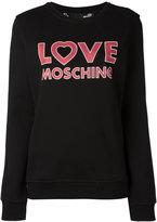 Love Moschino logo sweatshirt - women - Cotton - 40