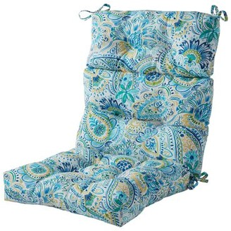 Bungalow Rose Outdoor Seat/Back Cushion Fabric: Blue