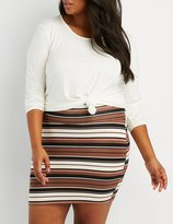 Charlotte Russe Plus Size Lattice-Back Top