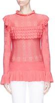 Temperley London 'Cypre' ruffle pointelle knit sweater