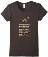 Boxer - Girl's best friends are boxers T-shirt - -