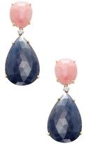 Rina Limor Fine Jewelry 18K Yellow Gold, Pink Opal, Blue Sapphire & 0.08 Total Ct. Diamond Teardrop Earrings