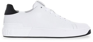Balmain B Court Low-Top Leather Sneakers