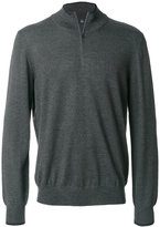 Fay zipped polo sweater