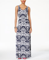 INC International Concepts Printed Maxi Dress, Created for Macy's