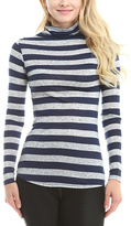 Celeste Navy Stripe Turtleneck Top