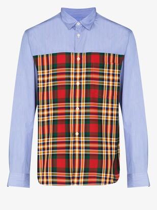 Comme des Garçons Homme Plus Tartan panelled shirt