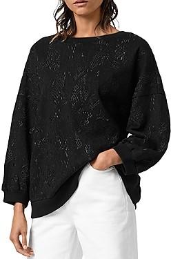 AllSaints Storn Masala Embroidered Sweatshirt