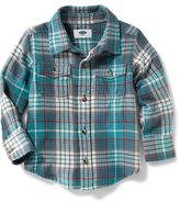 Old Navy Double-Pocket Flannel Shirt for Toddler