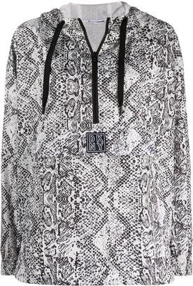 DKNY Snakeskin-Print Drawstring Jacket