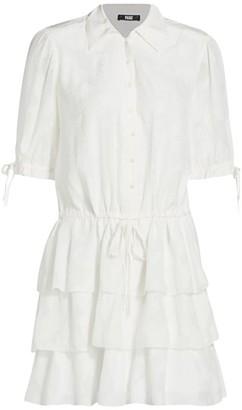 Paige Meredith Ruffle Skirt Shirtdress