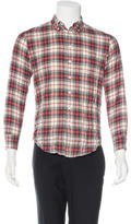 Band Of Outsiders Plaid Flannel Shirt