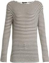 R 13 Cotton-jersey striped top