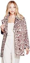 GUESS Women's Sally Faux-Fur Coat