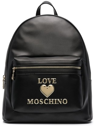 Love Moschino Lettering Logo Zipped Backpack