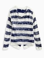 Splendid Girl Striped Loose Knit Sweater