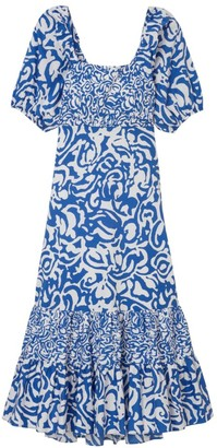 Tanya Taylor Cynthia Printed Poplin Dress