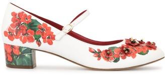 Dolce & Gabbana Kids Portofino print ballerina shoes