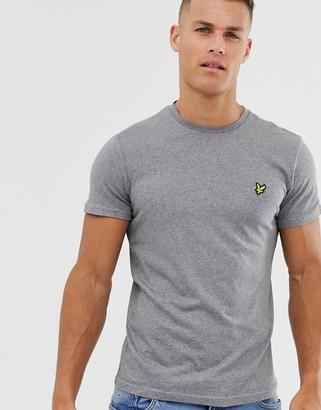 Lyle & Scott logo t-shirt in grey marl