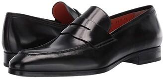 Santoni Gavin Simon Penny Loafer (Black) Men's Shoes