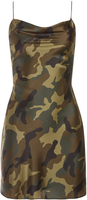 Alice + Olivia Harmony Camo Drapey Slip Dress