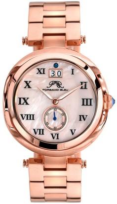 Women's South Sea Swarovski Crystal Accented Swiss Quartz Watch, 40mm