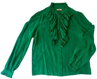 Zadig & Voltaire Green Silk Top for Women